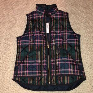 JCrew Plaid vest